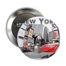 """NewYork_10x10_apparel_TimesSquare 2.25"""" Button"""