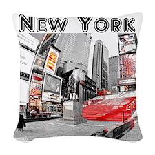 NewYork_10x10_apparel_TimesSqu Woven Throw Pillow