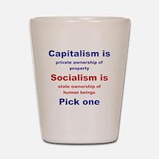 CAPITALISM IS... SOCIALISM IS... Shot Glass