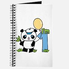 Lil' Panda Boy First Birthday Journal