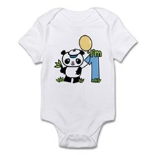 Lil' Panda Boy First Birthday Infant Bodysuit
