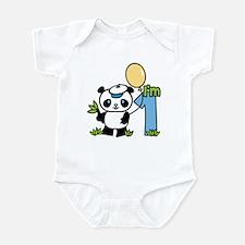 Lil' Panda Boy First Birthday Infant Bodysuit