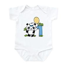 Lil' Panda Boy First Birthday Onesie