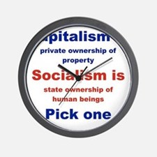 CAPITALISM IS... SOCIALISM IS... Wall Clock