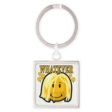 Whatever smiley Square Keychain