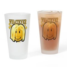 Whatever smiley Drinking Glass