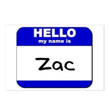 hello my name is zac  Postcards (Package of 8)