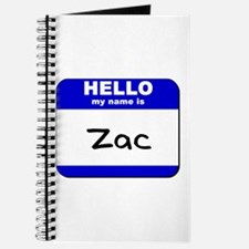 hello my name is zac Journal