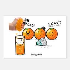 orange smiley Postcards (Package of 8)