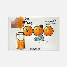 orange smiley Rectangle Magnet