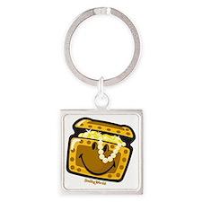 Treasure Smiley Square Keychain