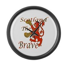 Scotland the Brave Boxing Large Wall Clock