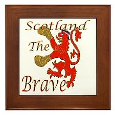 Scotland the Brave Boxing Framed Tile