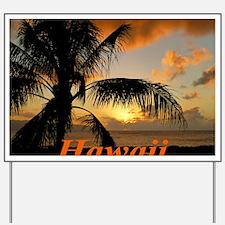 Sunset North Shore Oahu Yard Sign