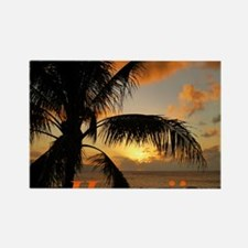 Sunset North Shore Oahu Rectangle Magnet