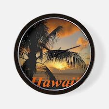 Sunset North Shore Oahu Wall Clock