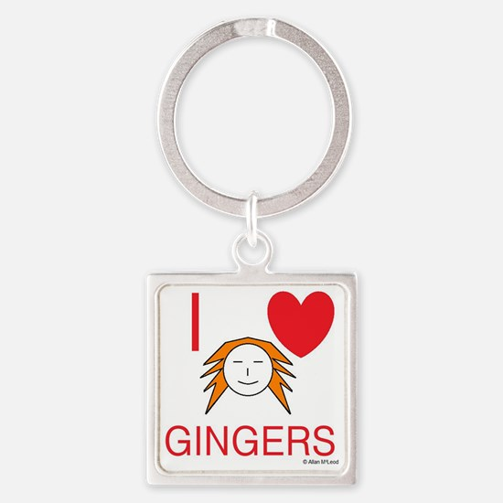 ginger love Square Keychain