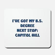 B.S. degree politician Mousepad