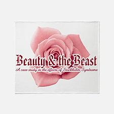 Beauty  the Beast Throw Blanket