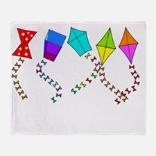 kite weekends darks Throw Blanket