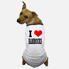 I Heart (Love) Hammocks Dog T-Shirt