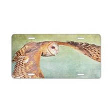Barn Owl Aluminum License Plate