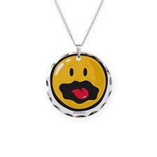 scared smiley Necklace