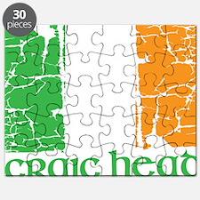 irish flag craic head st. patrick's day Puzzle
