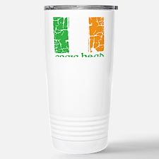 irish flag craic head s Travel Mug