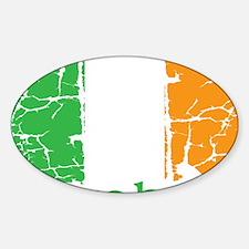 irish flag craic head st. patrick's Sticker (Oval)