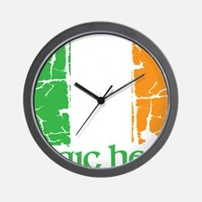 irish flag craic head st. patrick's day Wall Clock