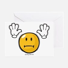 fright smiley Greeting Card