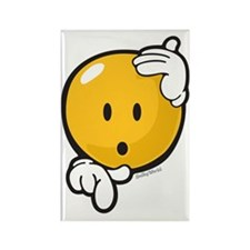 Hesitation Smiley Rectangle Magnet