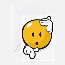 Hesitation Smiley Greeting Card