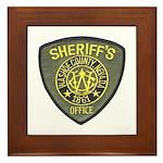 Washoe County Sheriff Framed Tile