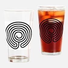 Chakra-Vyuha Labyrinth Drinking Glass