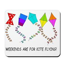 kite flying weekends Mousepad