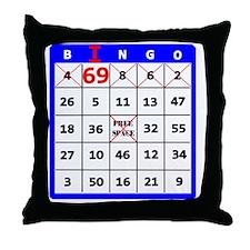 I 69 Bingo Throw Pillow