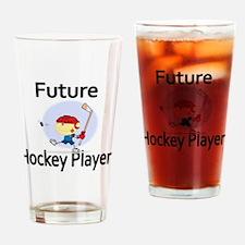Future Hockey Player Drinking Glass