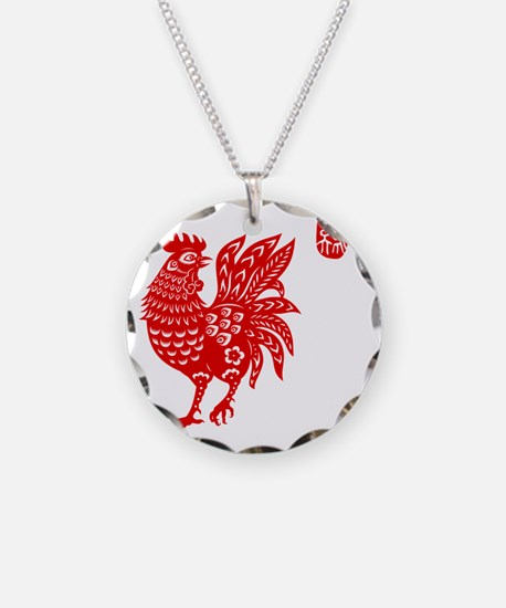 Asian Rooster Necklace