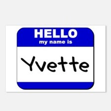 hello my name is yvette  Postcards (Package of 8)