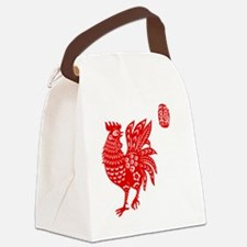 Asian Rooster Canvas Lunch Bag