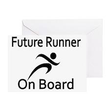 Future Runner on Board Greeting Card