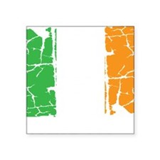 "irish flag, craic head, st. Square Sticker 3"" x 3"""