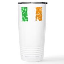 irish flag, craic head, Travel Mug