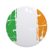 irish flag, craic head, st. patrick Round Ornament