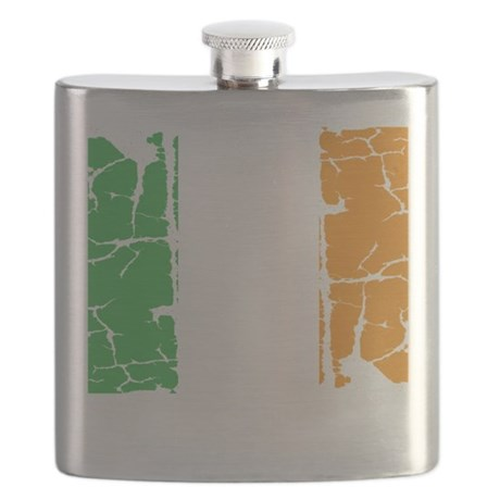 irish flag, craic head, st. patricks day, st Flask