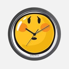 Timid smiley Wall Clock