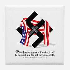 Cute Anti fascism Tile Coaster