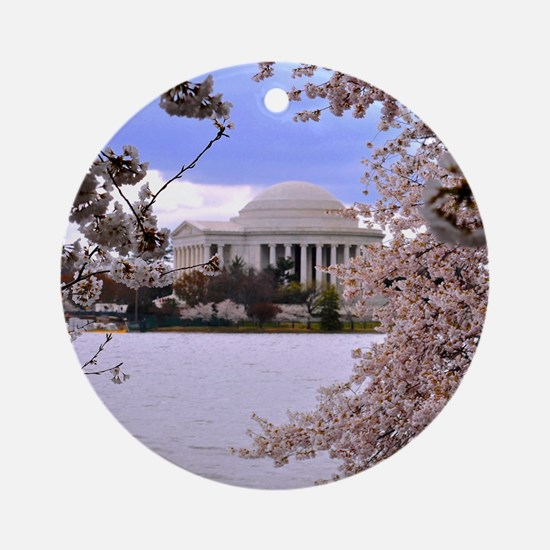 Thomas Jefferson Memorial 3 square Round Ornament